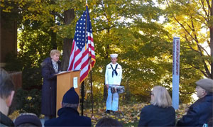 Dedication of the Town of Peterborough Peace Pole